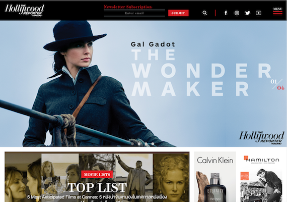 Hollywood Reporter website is magazine type of website. It provides contents in many categories with many kinds of media such as images and VDO. Also, editors can create new contents via CMS which has ability to create new pages, new website menu, new contents. CMS also provides a feature to create advertising and many more.