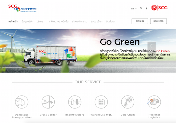SCG Logistic new corporate website that has Content Management System to manage content for the entire website. It supports 2 languages which is English and Thai. The website has member register and login features to allow users to see content differently.