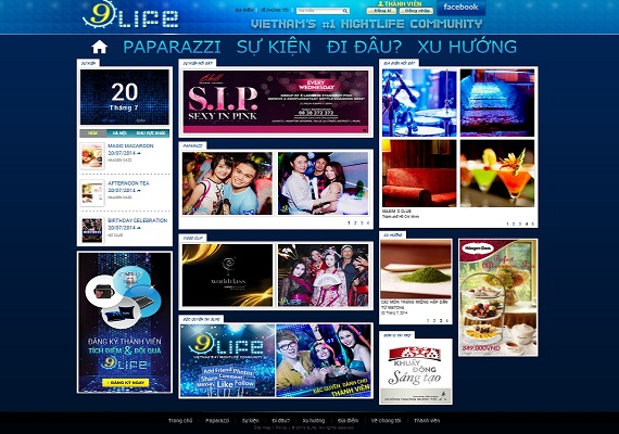 A nightlife website in Vietnam. This website provides all information for all hangout places in 3 big cities in Vietnam.