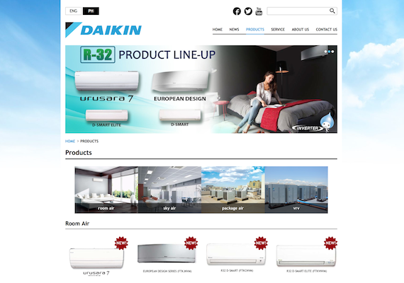 Daikin corporate website for Daikin Philippines and Daikin Indonesia. This website support 2 languages which are English and local. Also, the website has CMS which an admin person can change anything on the frontend website even the menus.