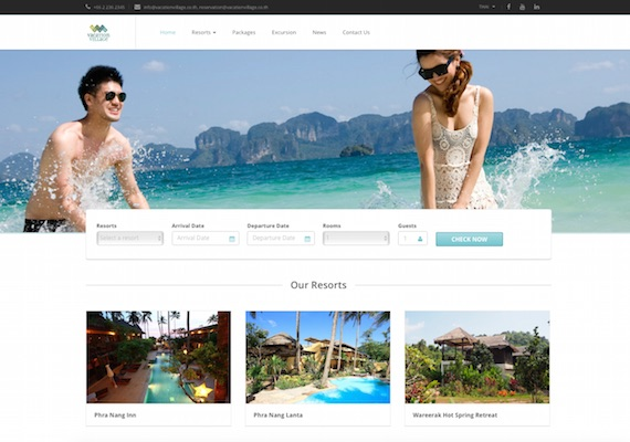 Vacation Village is a corporate website which contains 3 sub websites for 3 resorts under Vacation Village. This website allows users to perform booking via website and browse through resorts information.